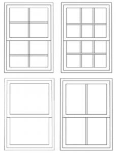 uPVC Sash windows design