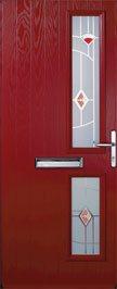 composite door red.