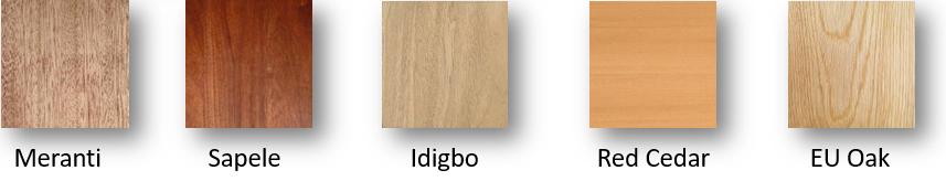 Hardwood Colour Shades