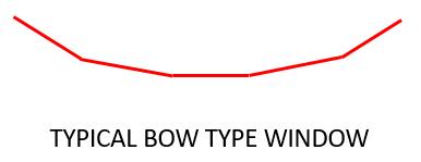 Bow window shape
